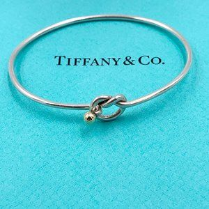 Authentic Tiffany & Co. Love Knot Bangle Bracelet
